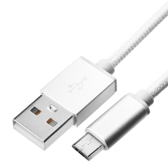 Braided cable - USB A to micro